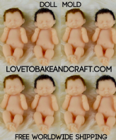OOAK baby, OOAK doll, Tiny baby mold, Baby mold, Doll mold, free worldwide shipping (1)